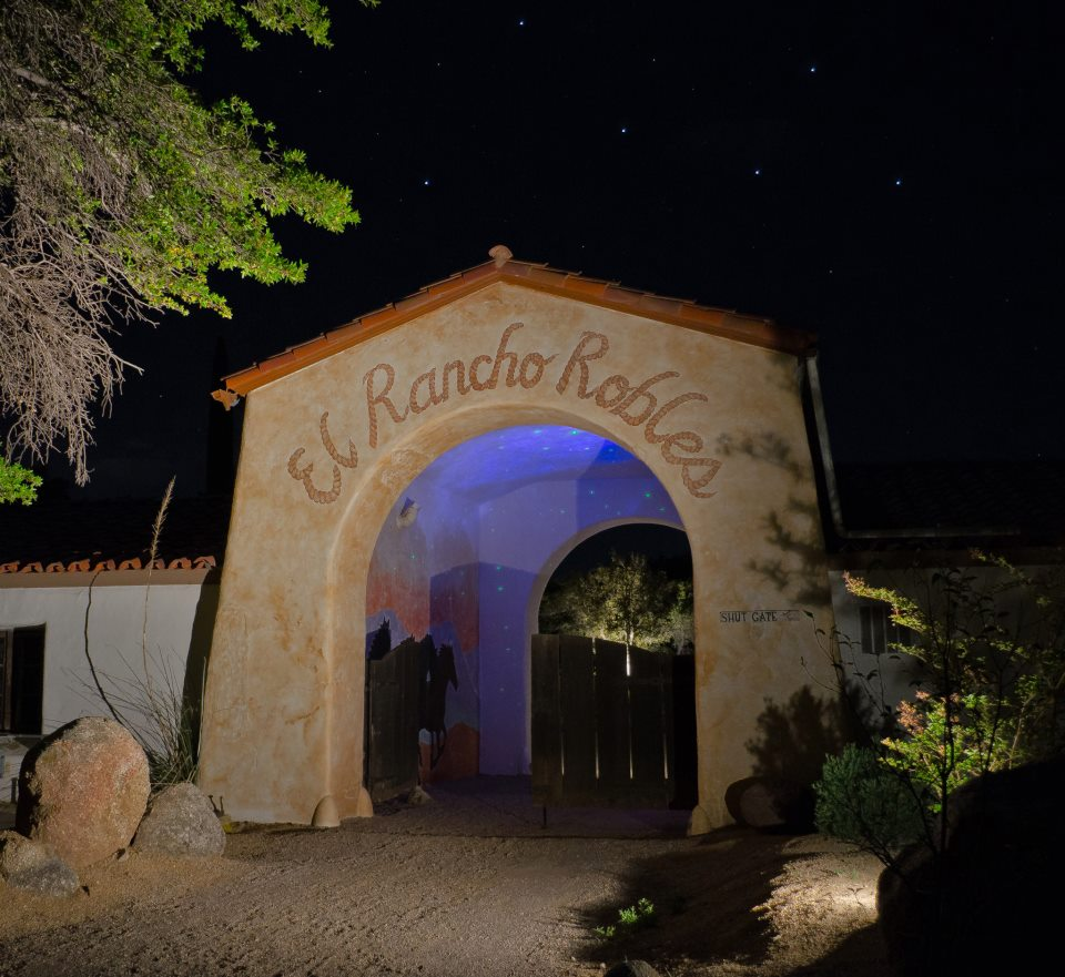 Rancho Robles Night - wedding venue- wedding destinations in Oracle, AZ